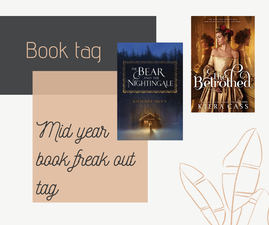 My blog post with my mid year book freak out tag (2020), in the post I talk about The Bear and the nightingale by Katherine Arden, the Betrothed by Kiera Cass and many more books!
